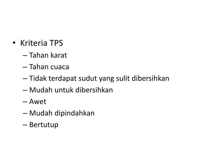 Kriteria TPS
