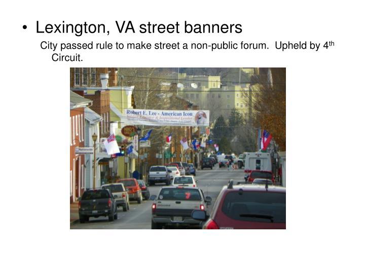 Lexington, VA street banners
