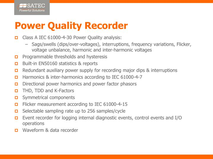 Power Quality Recorder