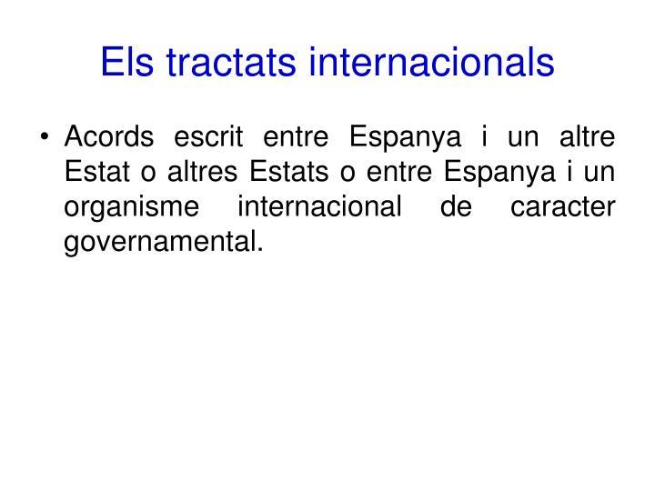 Els tractats internacionals