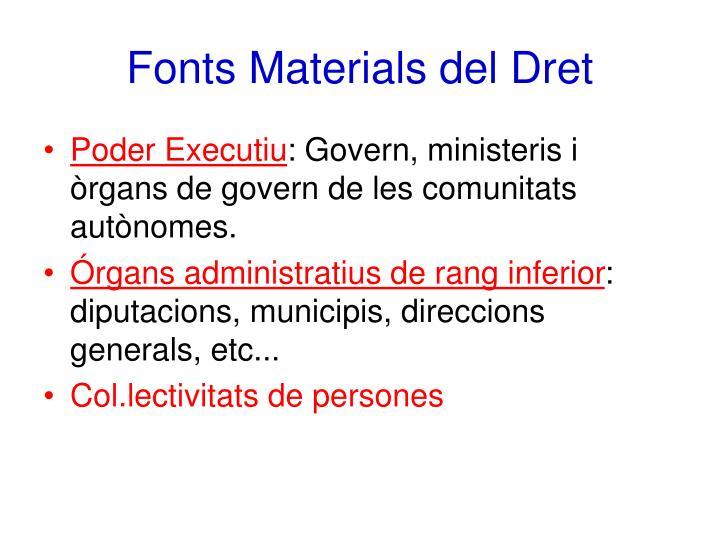 Fonts Materials del Dret