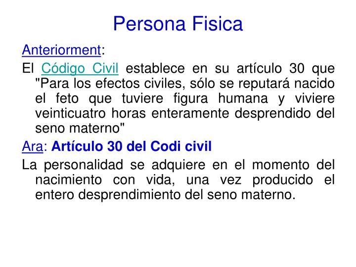 Persona Fisica
