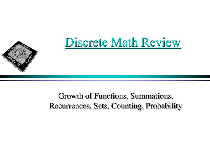 Discrete Math Review