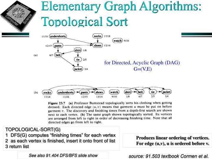Elementary Graph Algorithms: