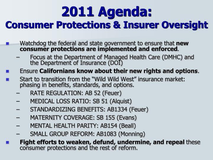 2011 Agenda: