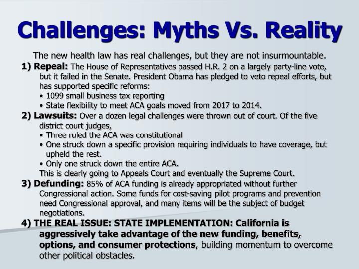 The new health law has real challenges, but they are not insurmountable.
