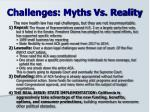 challenges myths vs reality
