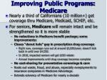 improving public programs medicare