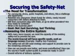 securing the safety net