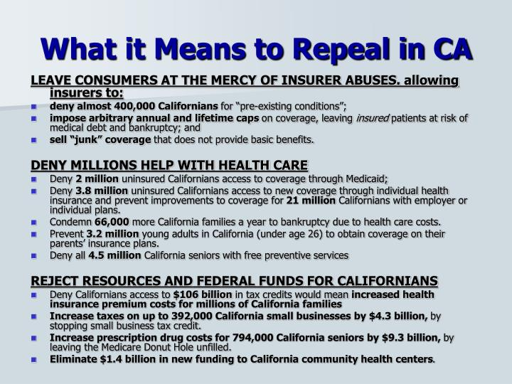 What it Means to Repeal in CA