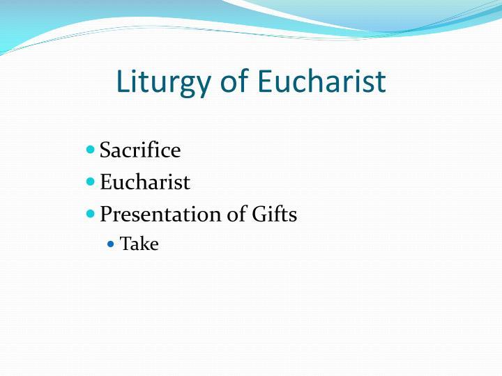 Liturgy of Eucharist