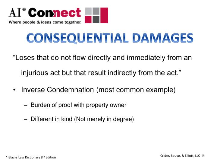 CONSEQUENTIAL DAMAGES