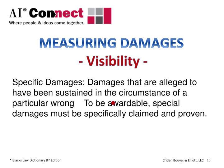 MEASURING DAMAGES