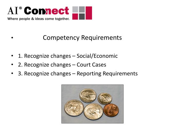 Competency Requirements
