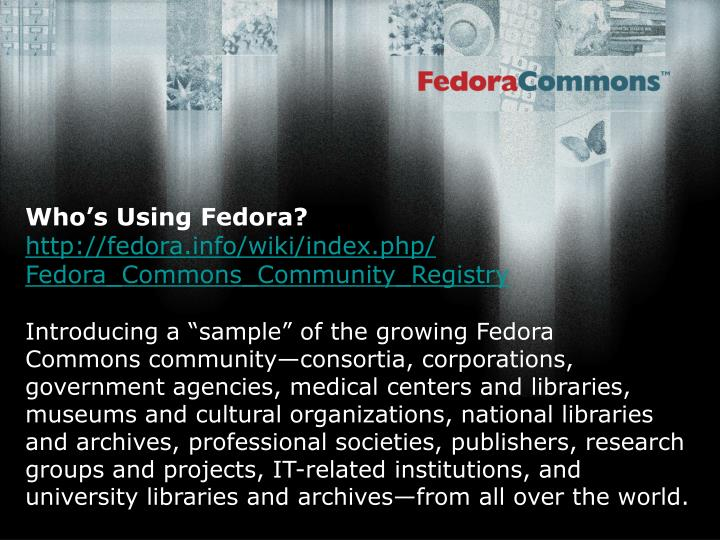 Who's Using Fedora?