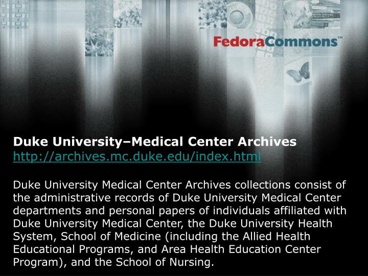 Duke University–Medical Center Archives