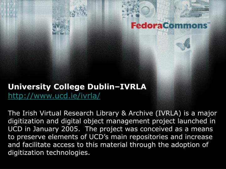 University College Dublin–IVRLA
