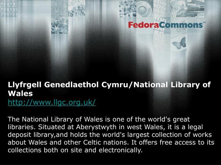 Llyfrgell Genedlaethol Cymru/National Library of Wales
