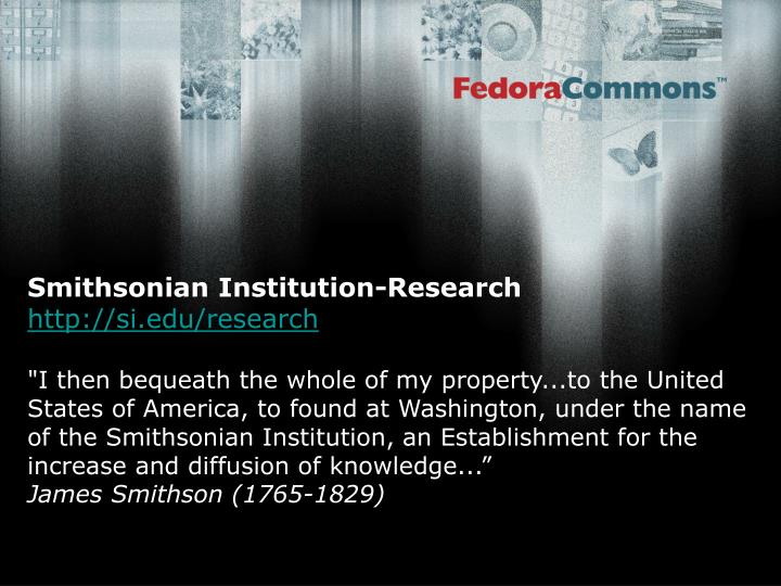 Smithsonian Institution-Research
