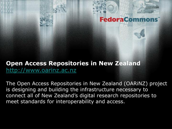 Open Access Repositories in New Zealand