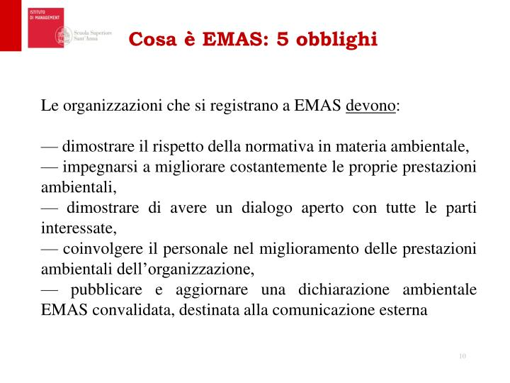 Cosa è EMAS: 5 obblighi