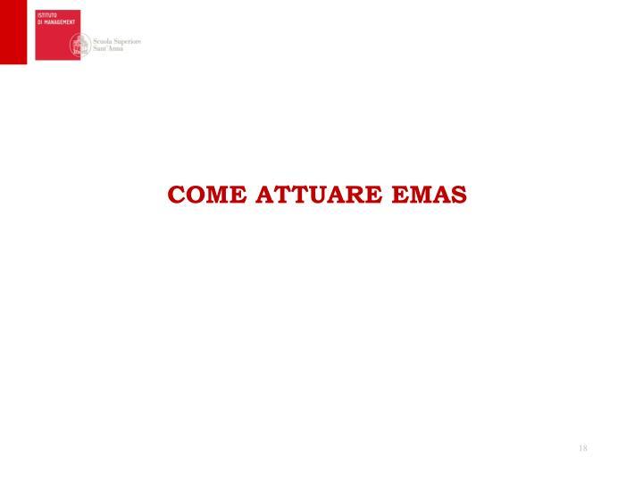 COME ATTUARE EMAS