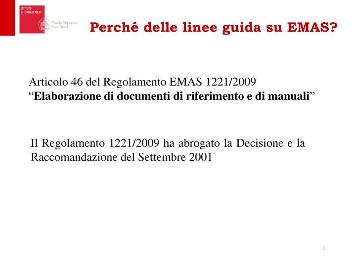 Perché delle linee guida su EMAS?
