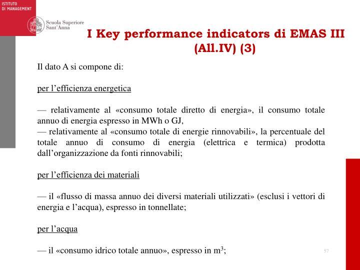 I Key performance indicators di EMAS III (All.IV) (3)