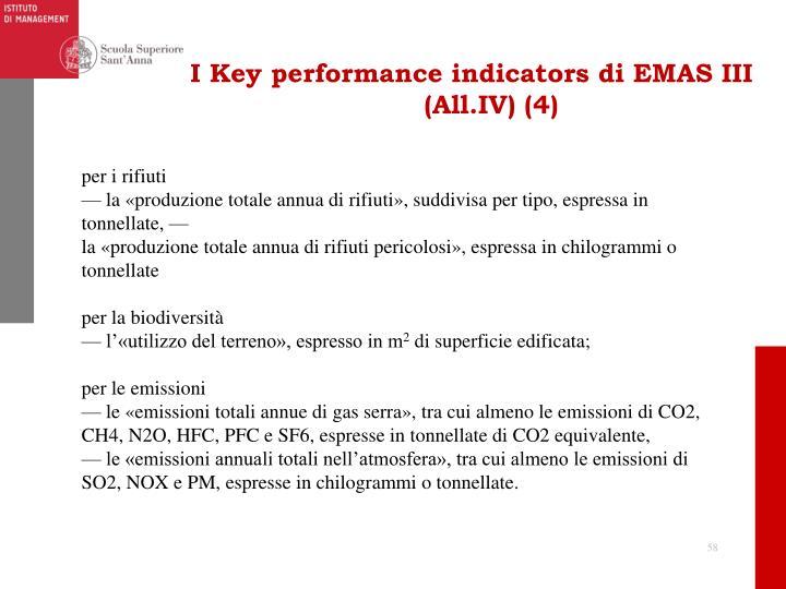 I Key performance indicators di EMAS III (All.IV) (4)