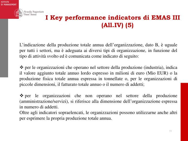 I Key performance indicators di EMAS III (All.IV) (5)