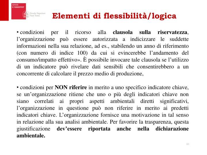 Elementi di flessibilità/logica