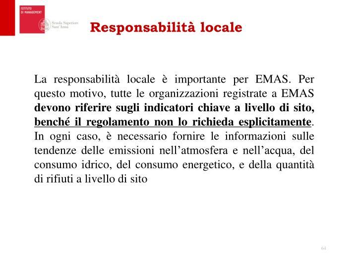 Responsabilità locale