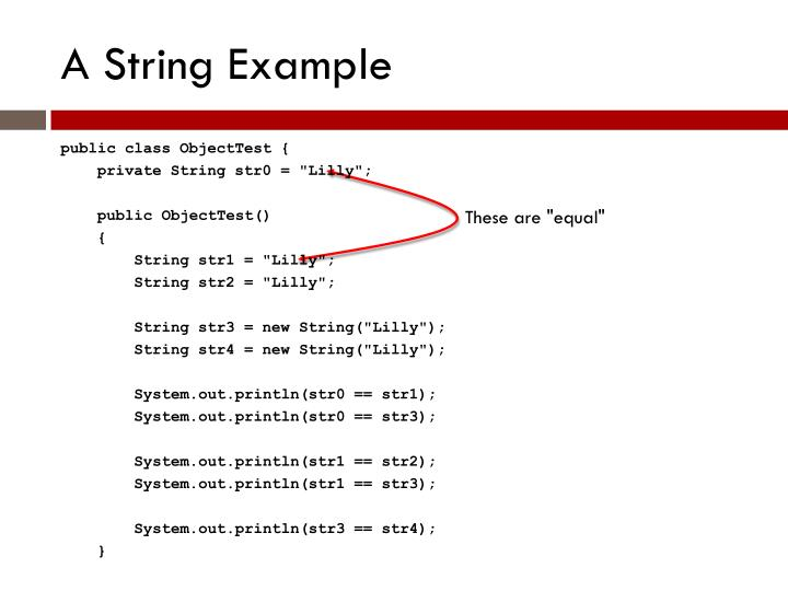 A String Example