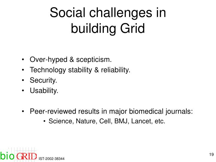 Social challenges in