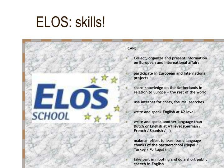 ELOS: skills!