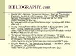 bibliography cont3