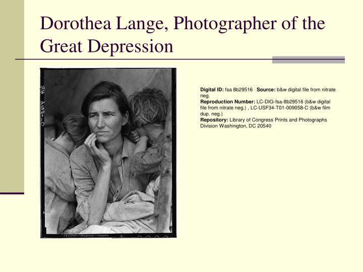 Dorothea Lange, Photographer of the Great Depression
