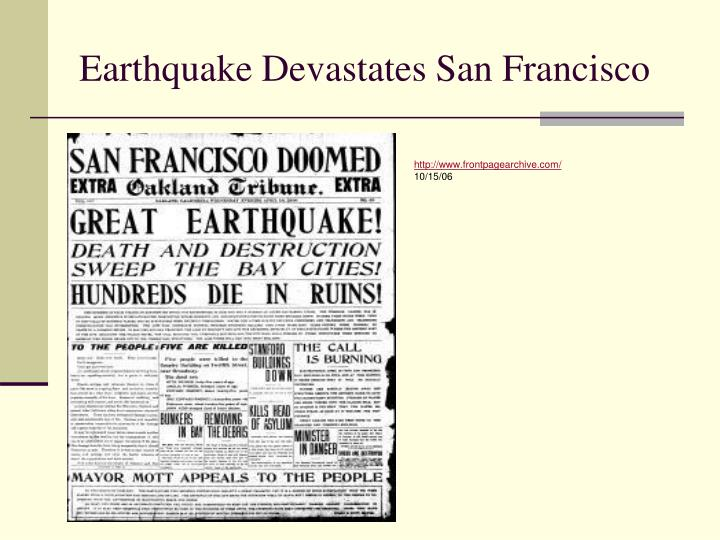 Earthquake Devastates San Francisco