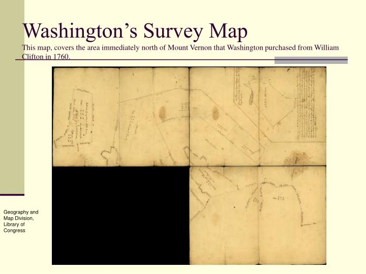 Washington's Survey Map