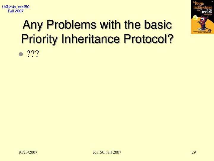 Any Problems with the basic Priority Inheritance Protocol?