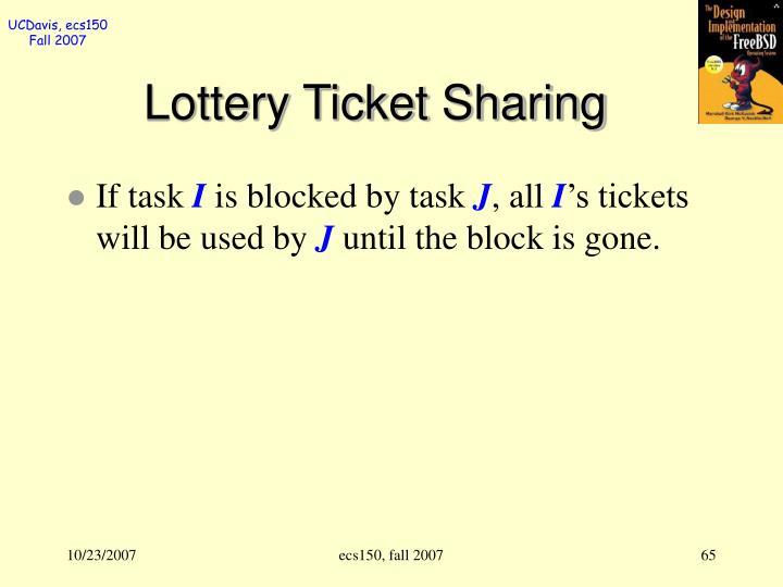 Lottery Ticket Sharing