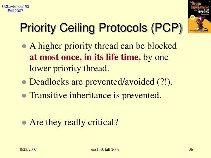 Priority Ceiling Protocols (PCP)
