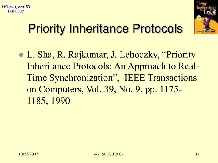 Priority Inheritance Protocols