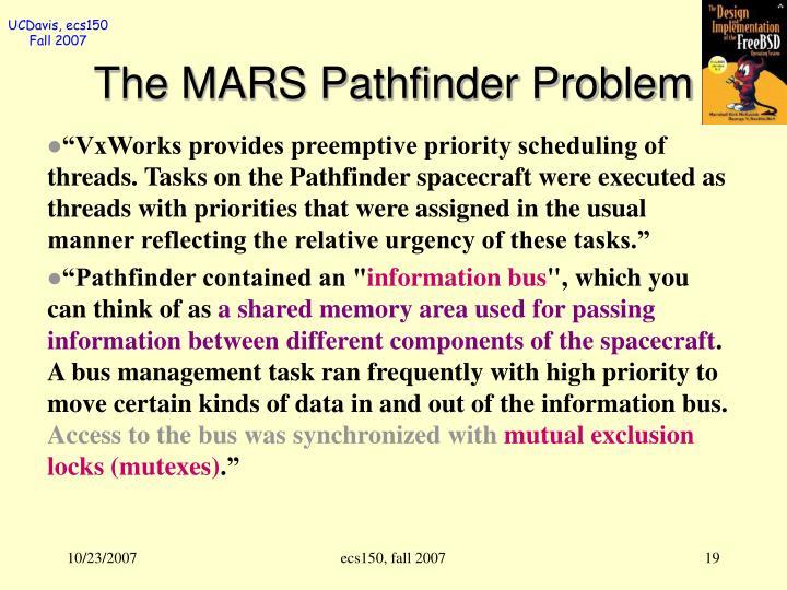 The MARS Pathfinder Problem