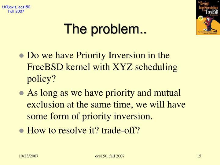 The problem..