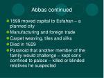 abbas continued