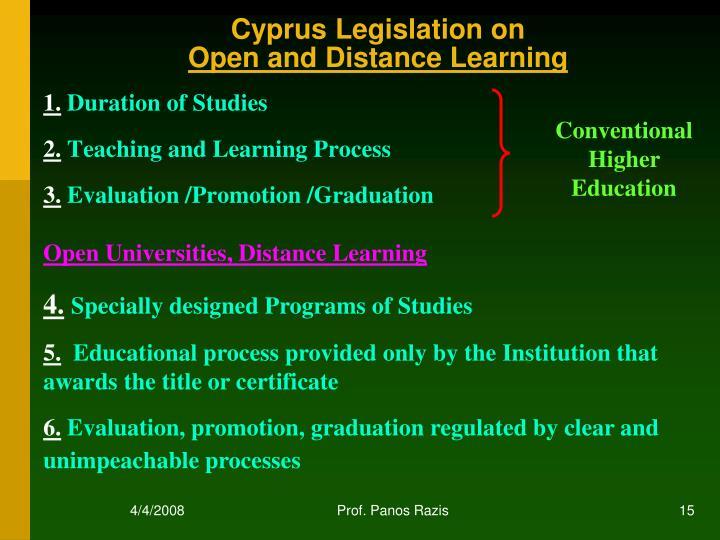 Cyprus Legislation on