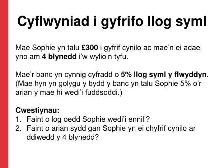 Cyflwyniad i gyfrifo llog syml