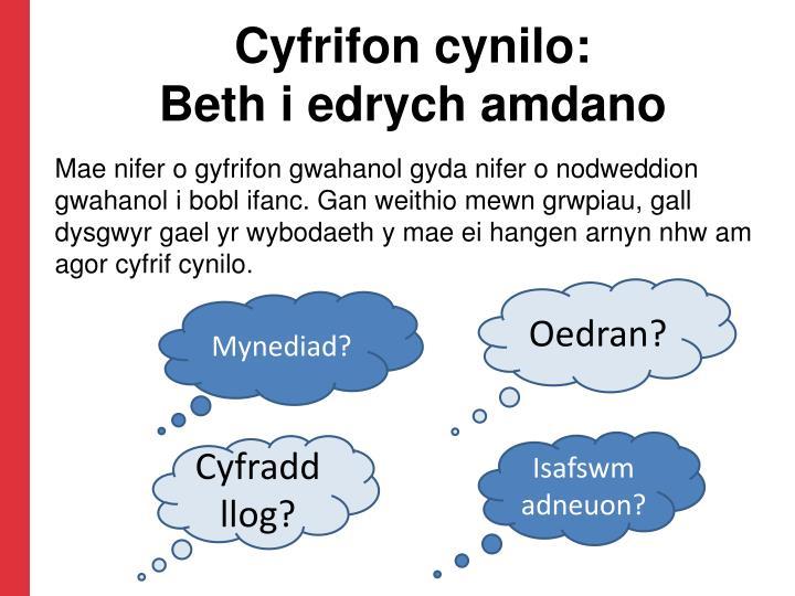 Cyfrifon cynilo: