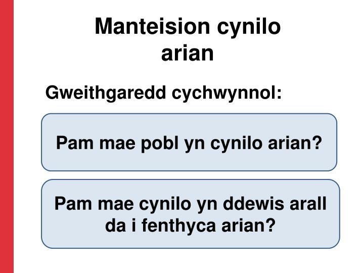 Manteision cynilo arian
